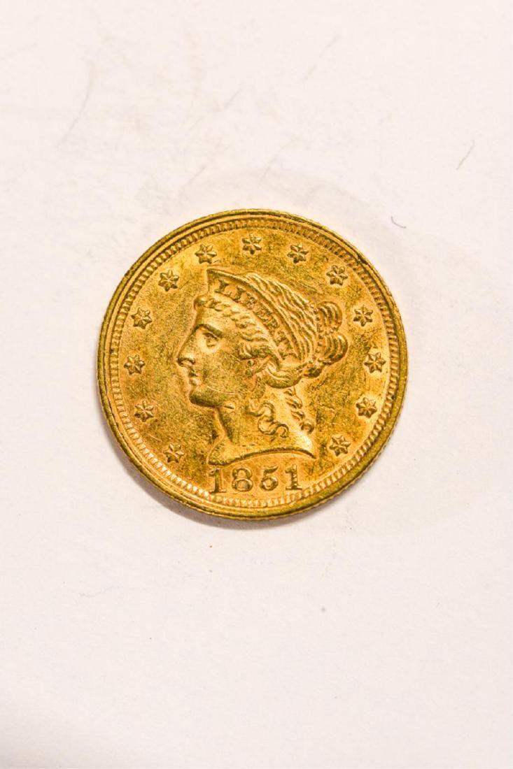 1851 UNITED STATES LIBERTY HEAD GOLD $2 1/2