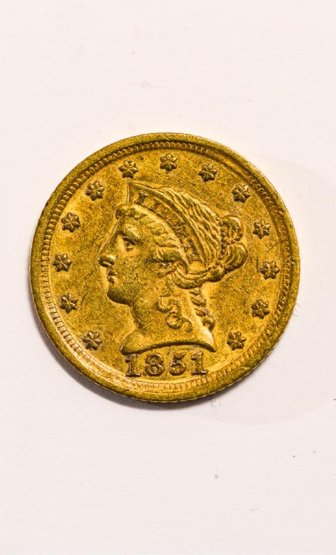 1851-D UNITED STATES LIBERTY HEAD GOLD $2 1/2