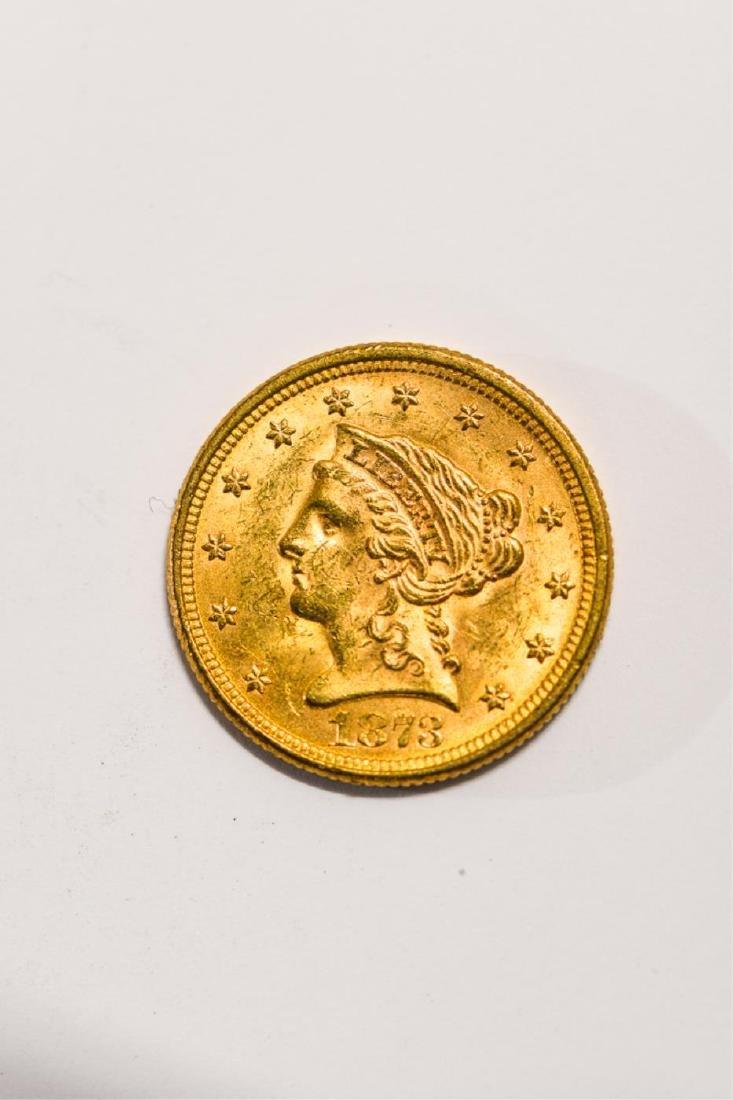 1873 UNITED STATES LIBERTY HEAD GOLD $2 1/2