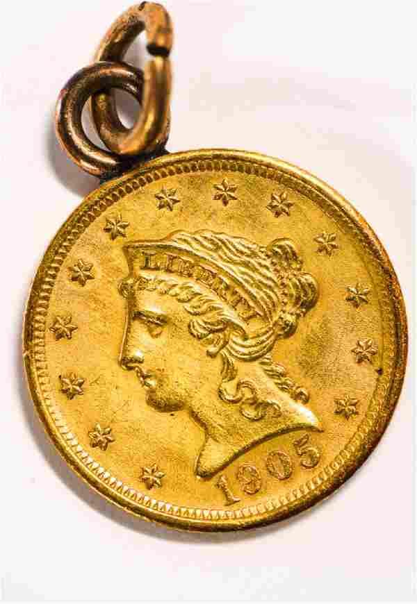1905 UNITED STATES LIBERTY HEAD GOLD $2 1/2