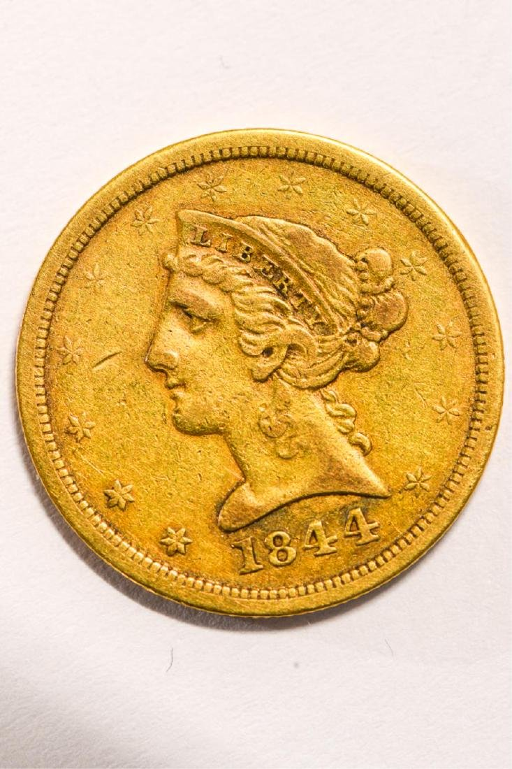 1844-O UNITED STATES LIBERTY HEAD GOLD $5