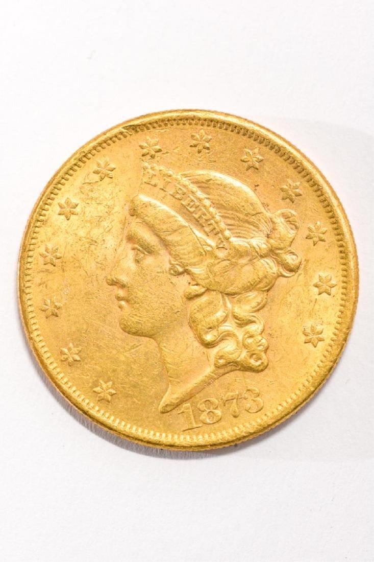 1873 UNITED STATES LIBERTY HEAD GOLD $20