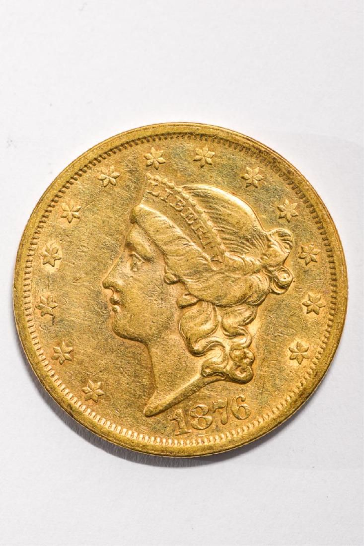 1876-S UNITED STATES LIBERTY HEAD GOLD $20