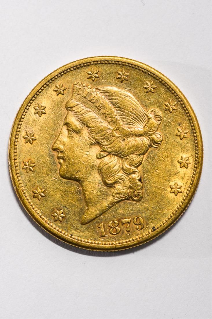 1879-S UNITED STATES LIBERTY HEAD GOLD $20