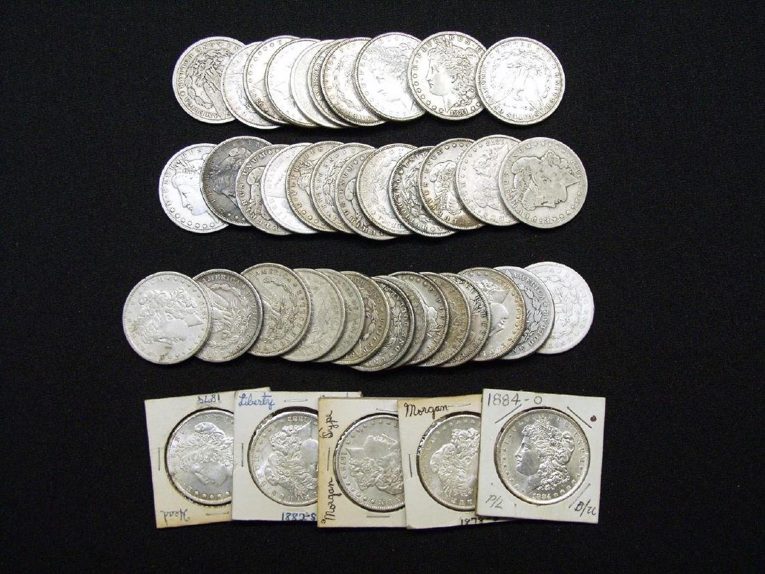 (42) UNITED STATES MORGAN SILVER DOLLARS