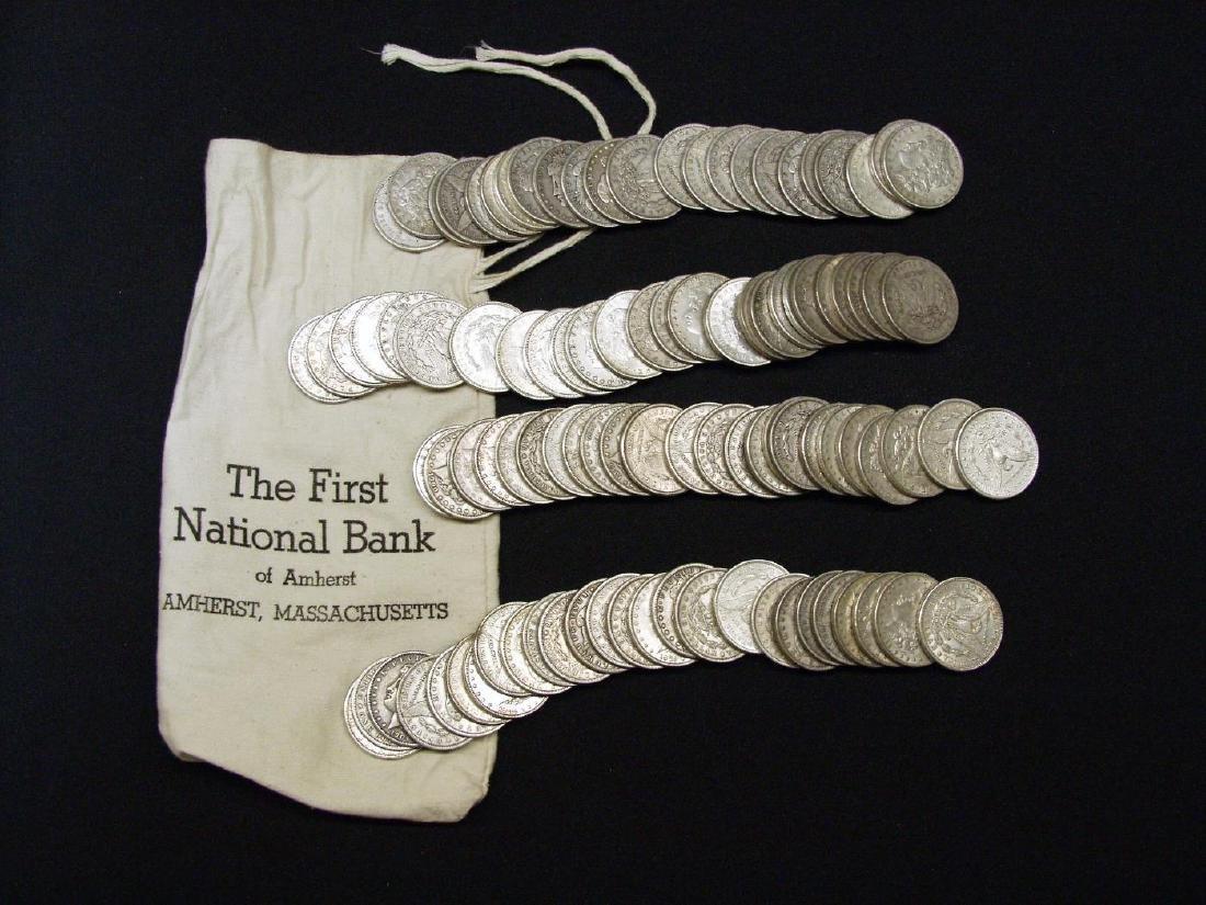 (100) UNITED STATES MORGAN SILVER DOLLARS