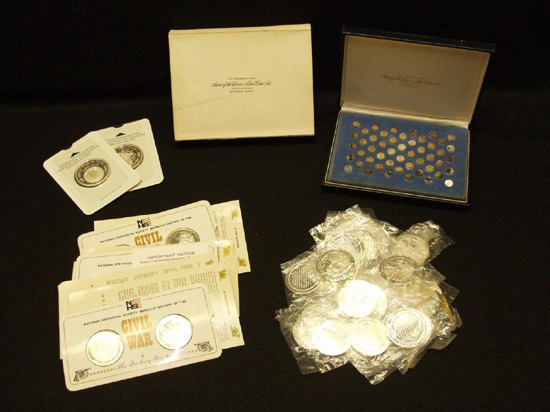 GROUP LOT OF FRANKLIN MINT MEDALS