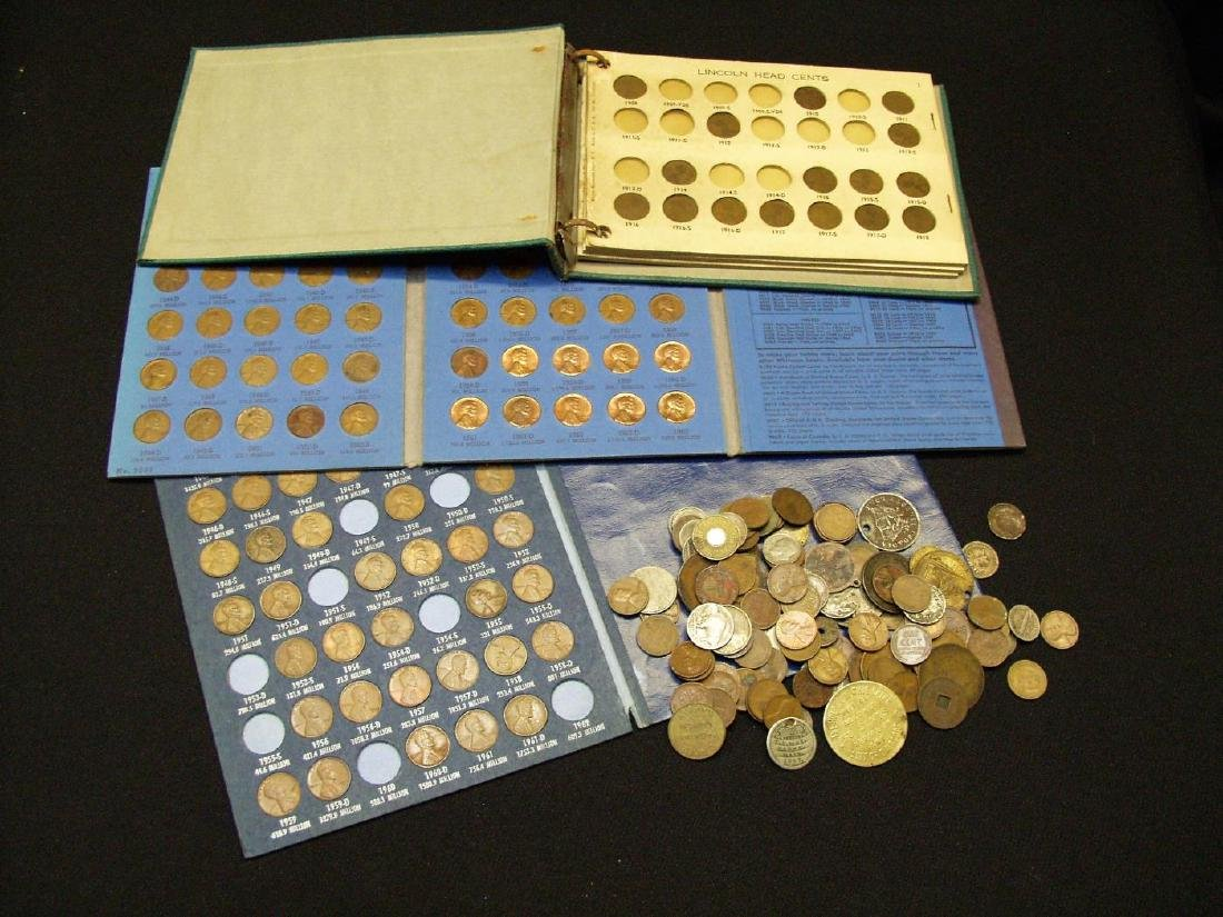 GROUP LOT OF US TYPE COINS, TOKENS AND EXONUMIA