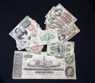 (14) US FRACTIONAL CURRENCY & CONFEDERATE NOTES