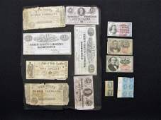 (18) US NOTES, FRACTIONAL & CONFEDERATE CURRENCY