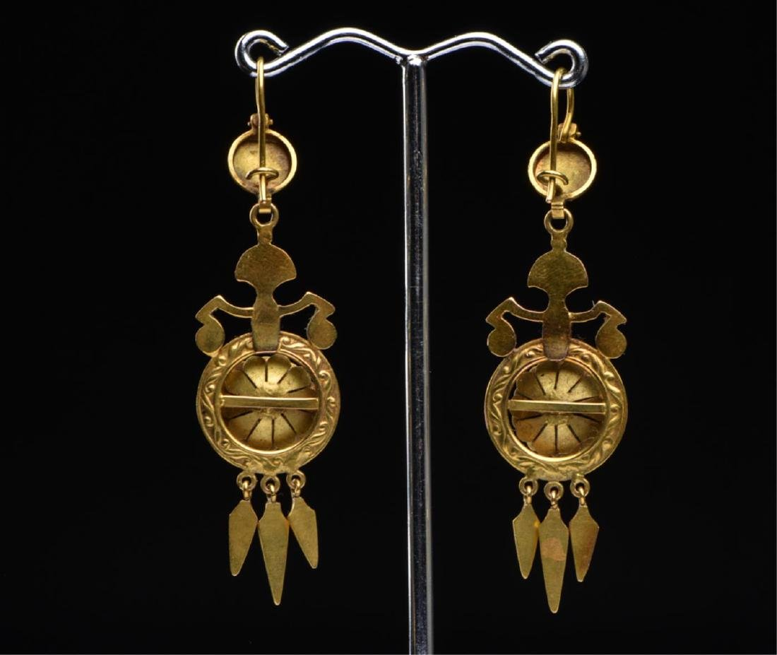 (2) PAIR OF VICTORIAN 14K GOLD EARRINGS - 9