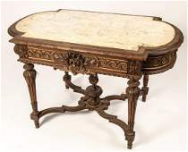 FRENCH RENAISSANCEREVIVAL LIBRARY TABLE