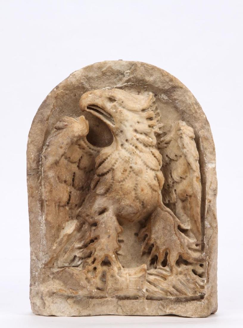CARVED MARBLE IMPERIAL ROMAN EAGLE