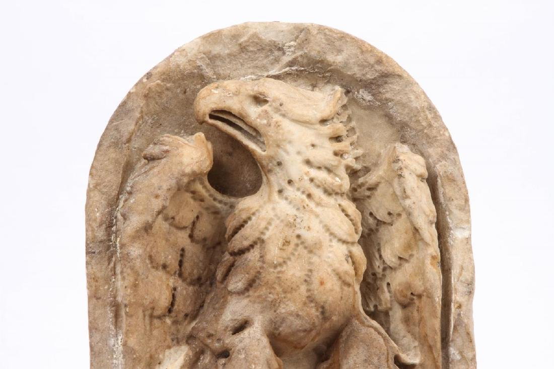CARVED MARBLE IMPERIAL ROMAN EAGLE - 3