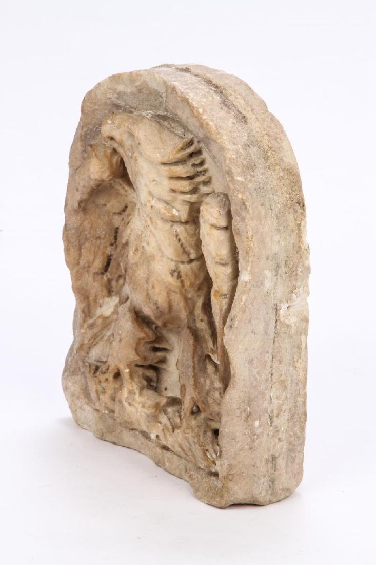 CARVED MARBLE IMPERIAL ROMAN EAGLE - 4