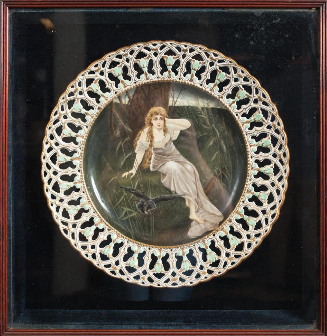 HAND PAINTED PORCELAIN CABINET CHARGER