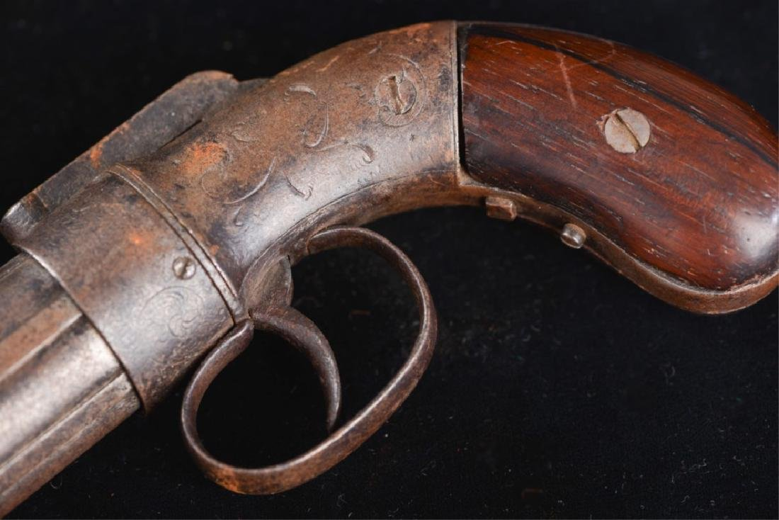 19TH CENTURY PEPPERBOX PISTOL - 10
