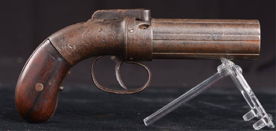 19TH CENTURY PEPPERBOX PISTOL