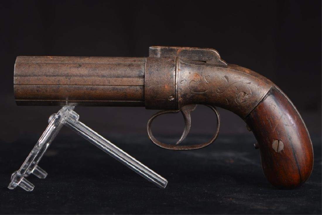 19TH CENTURY PEPPERBOX PISTOL - 5