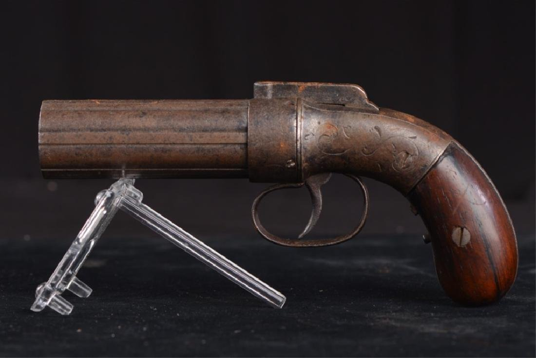19TH CENTURY PEPPERBOX PISTOL - 6