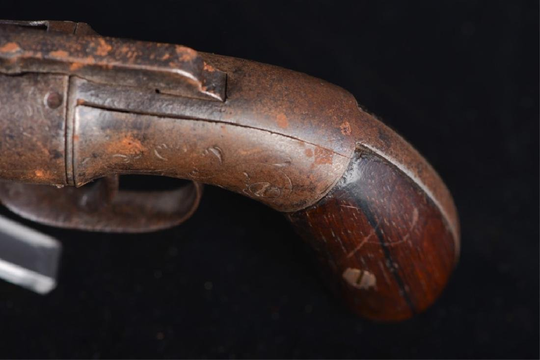 19TH CENTURY PEPPERBOX PISTOL - 7