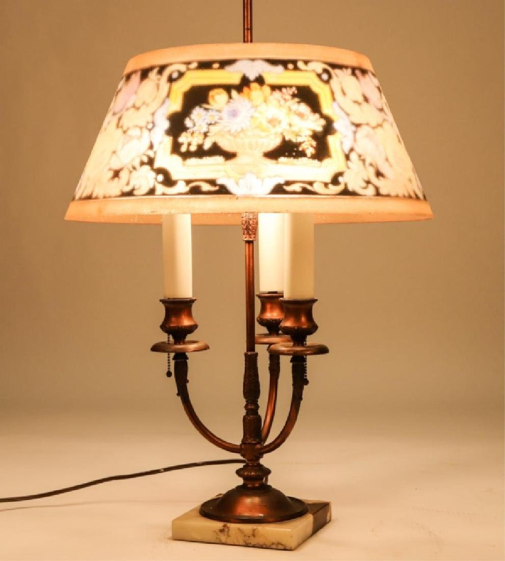 BRONZE (3) LIGHT PAIRPOINT TABLE LAMP