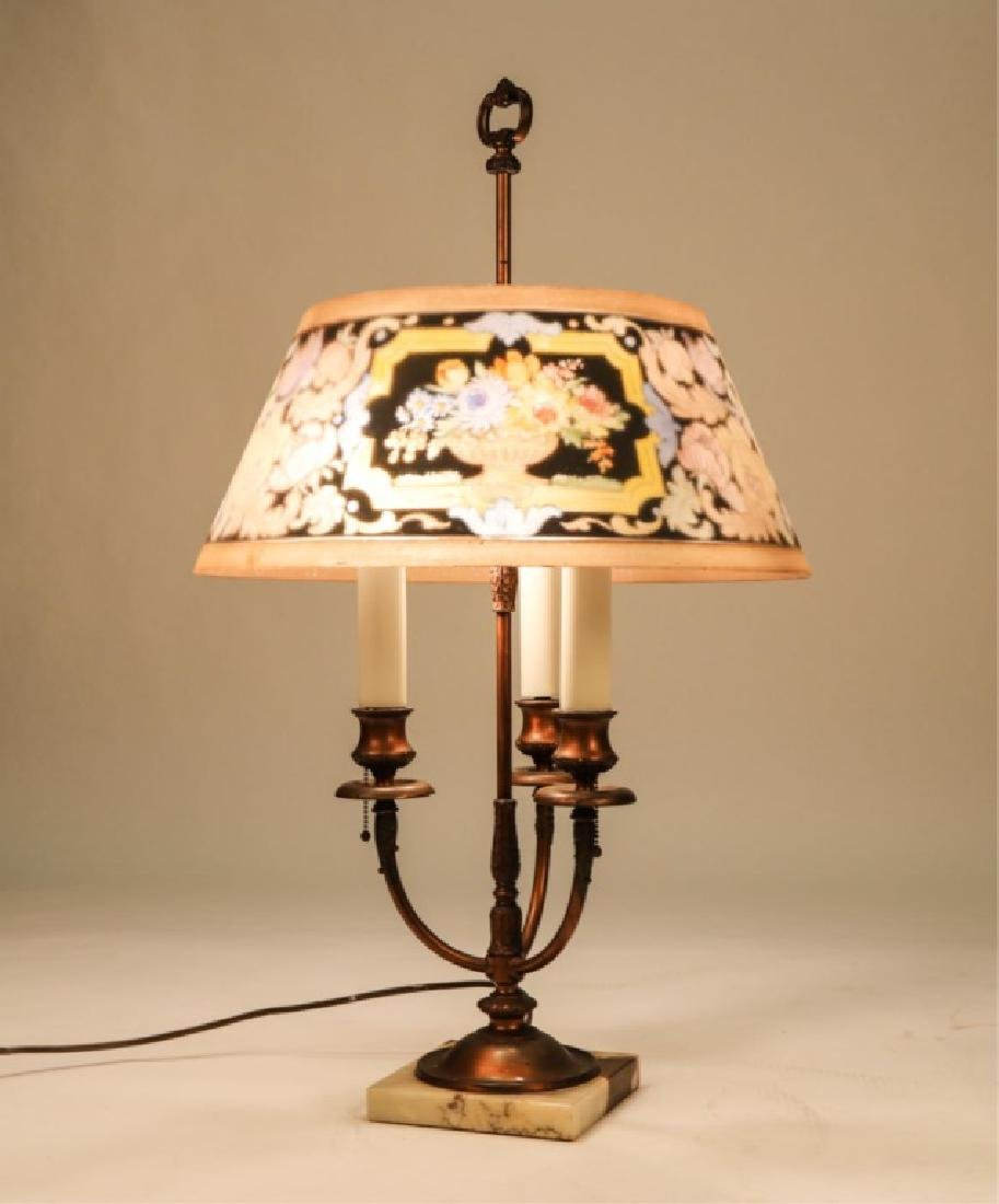 BRONZE (3) LIGHT PAIRPOINT TABLE LAMP - 7