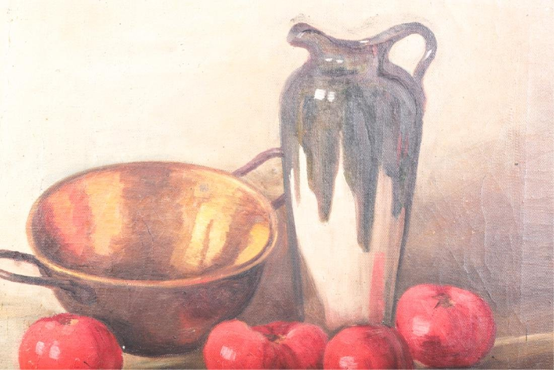 TWO AMERICAN SCHOOL OIL ON CANVAS STILL LIFE'S - 10