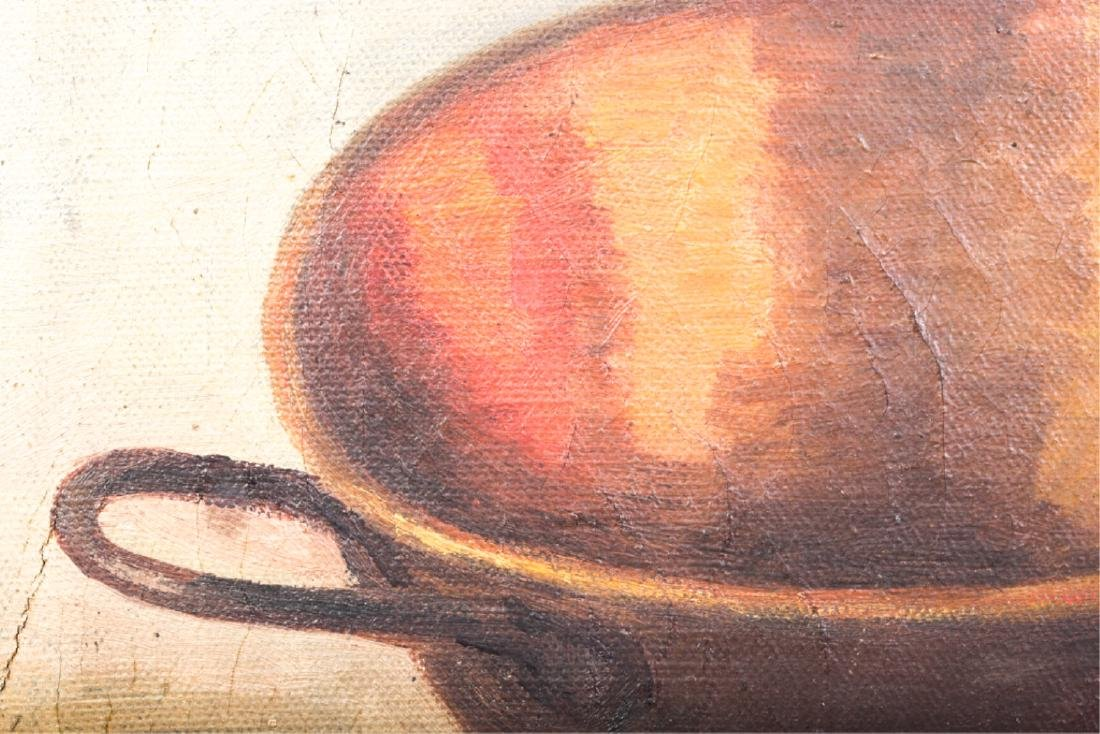 TWO AMERICAN SCHOOL OIL ON CANVAS STILL LIFE'S - 2
