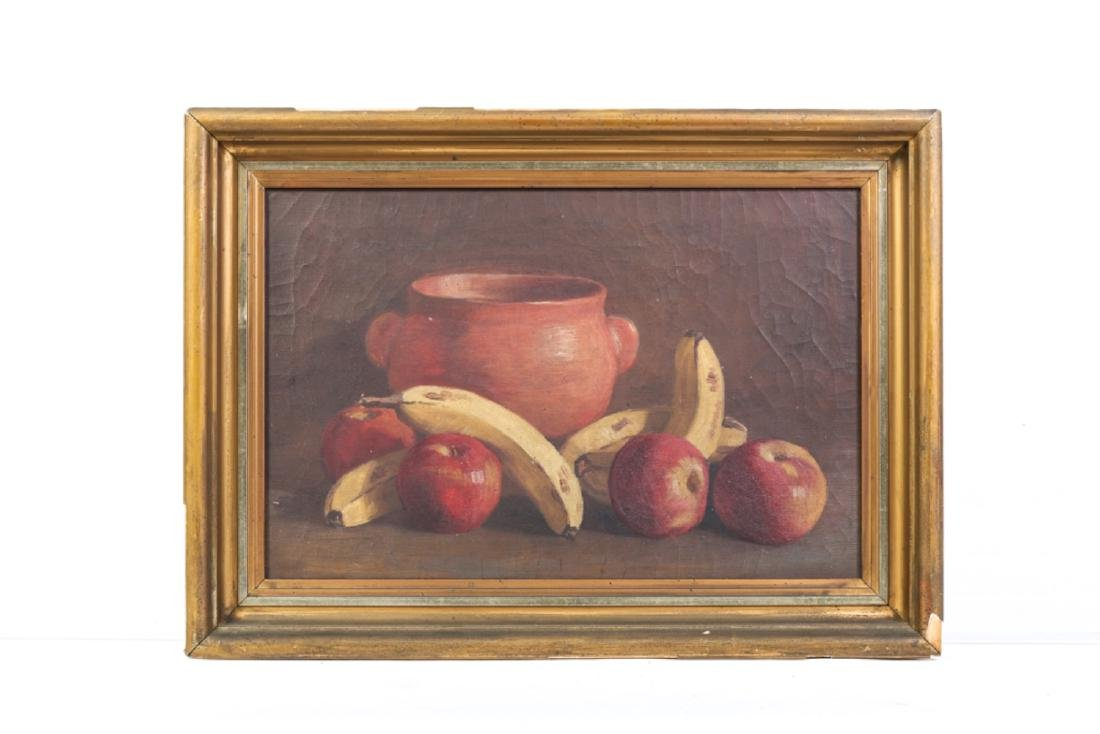 TWO AMERICAN SCHOOL OIL ON CANVAS STILL LIFE'S - 4