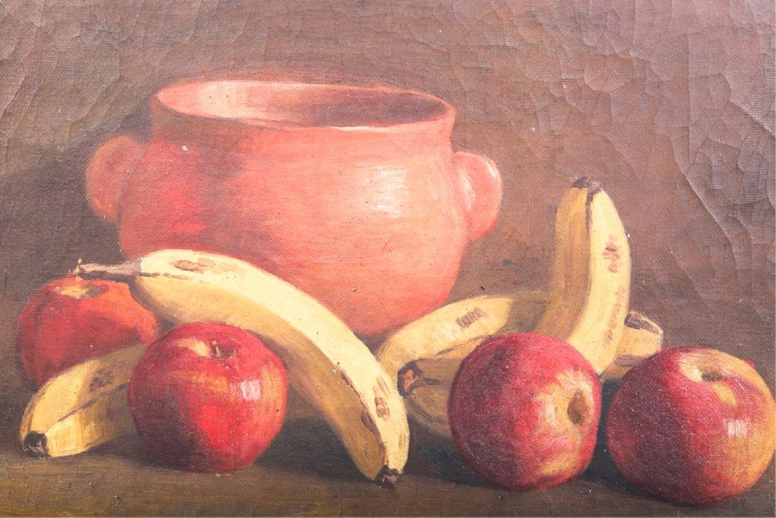 TWO AMERICAN SCHOOL OIL ON CANVAS STILL LIFE'S - 5