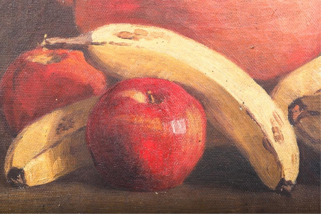 TWO AMERICAN SCHOOL OIL ON CANVAS STILL LIFE'S - 6