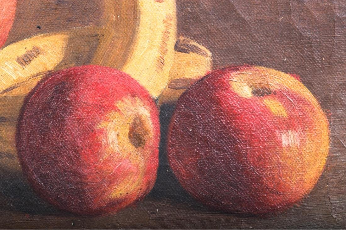 TWO AMERICAN SCHOOL OIL ON CANVAS STILL LIFE'S - 7
