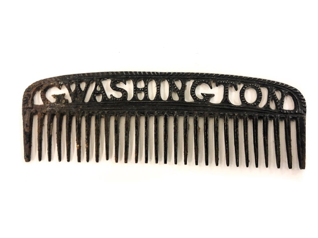 GEORGE WASHINGTON FEDERAL PERIOD IRON MANE COMB