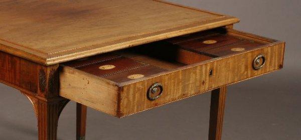 3: George III Mahogany  Rent  Table, circa 1790