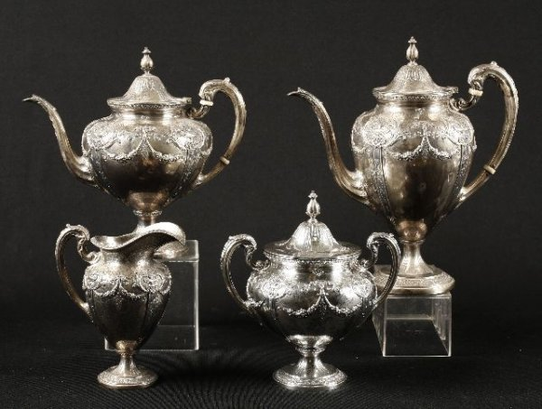 5: American Silver Four piece tea and coffee service