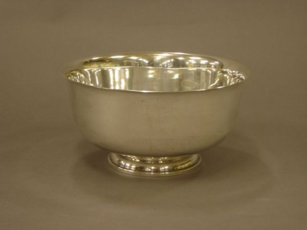 7: Sterling punch bowl by M. Fred Hirsch Co.
