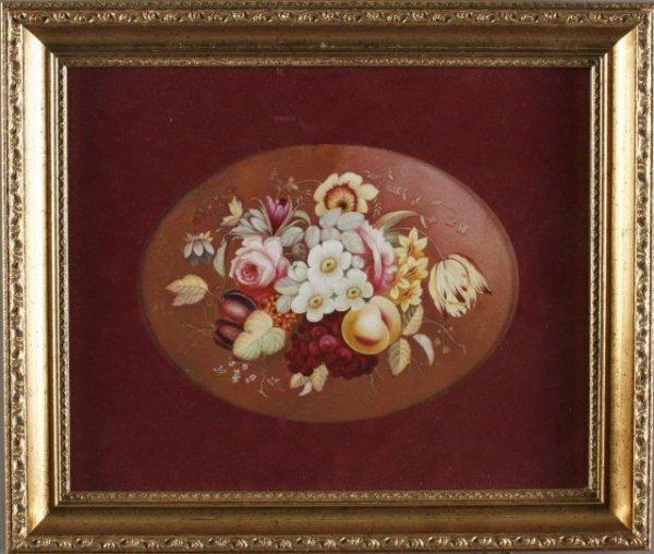 17: Victorian painting on porcelain plaque
