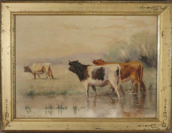 24: Wilbur H. Lansil, American (1846-1924) Cows
