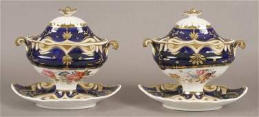 171: Pair of English covered sauce tureens