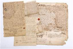LOT OF EARLY 18th c LAND DEEDS