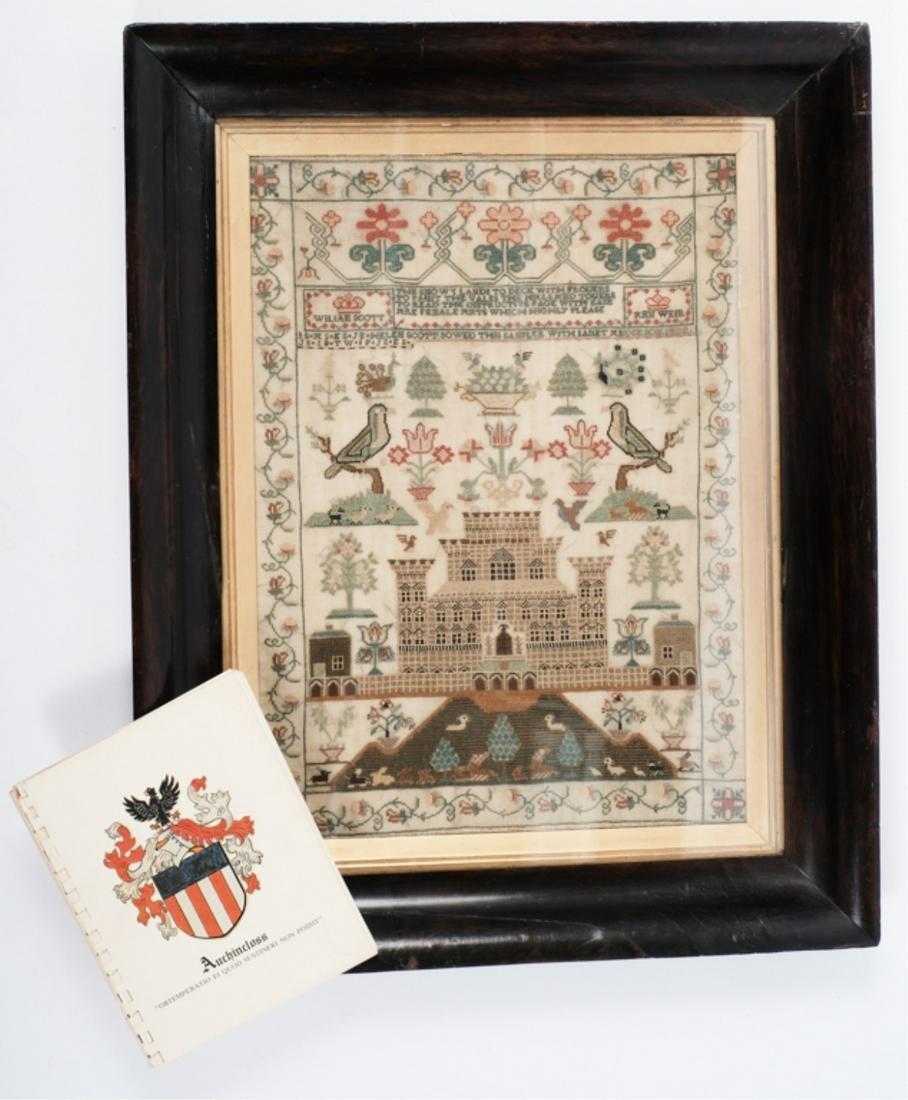 1802 SCOTTISH SAMPLER BY HELEN SCOTT & LINEAGE