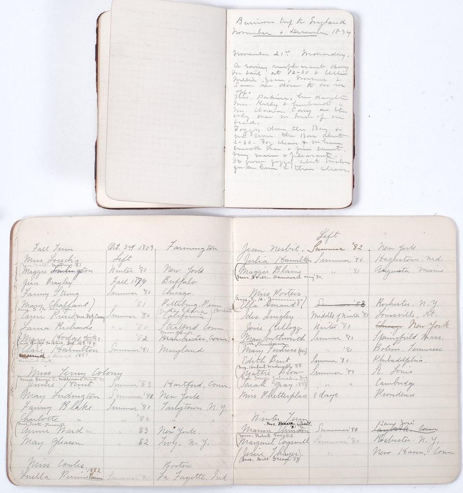EMMA AUCHINCLOSS (1861-1942) SCHOOLING & DIARY