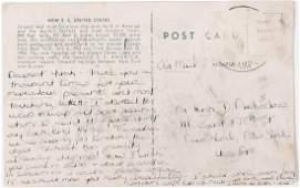 LEE BOUVIER CANFIELD POSTCARD to YUSHA AUCHINCLOSS