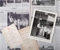 SEN. JOHN F. KENNEDY SPEECHES & BOY'S CLUB PHOTO