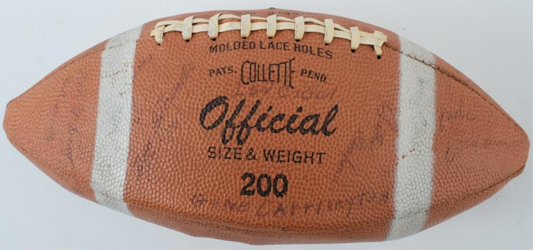 PRES KENNEDY GIFT / I1961 B.C. AUTOGRAPH FOOTBALL