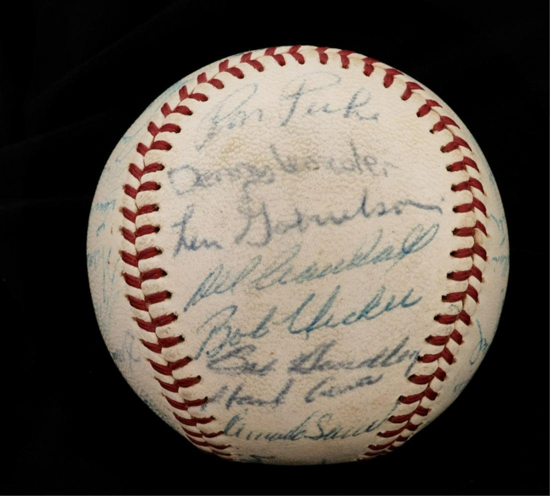 PRES KENNEDY 1963 GIFT / BRAVES AUTOGRAPH BASEBALL