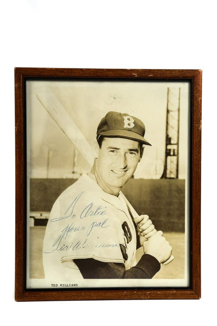 BOSTON RED SOX TED WILLIAMS AUTOGRAPHED PHOTO