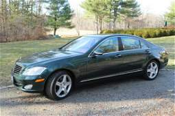 ESTATE OWNED 2009 JADE GREEN MERCEDES S550