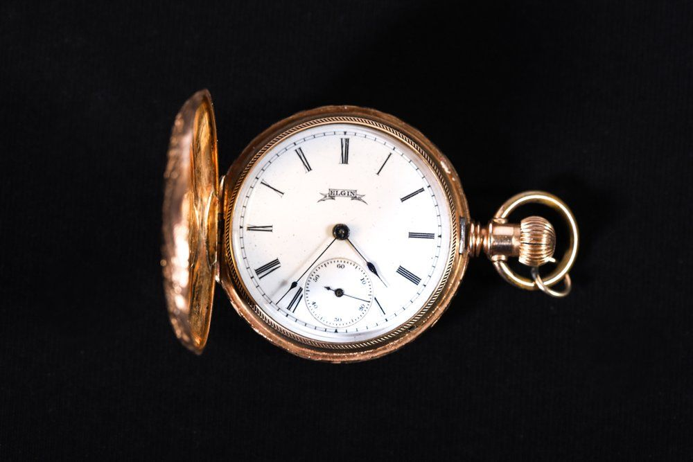 ELGIN 14K YELLOW GOLD LADY'S POCKET WATCH 1887